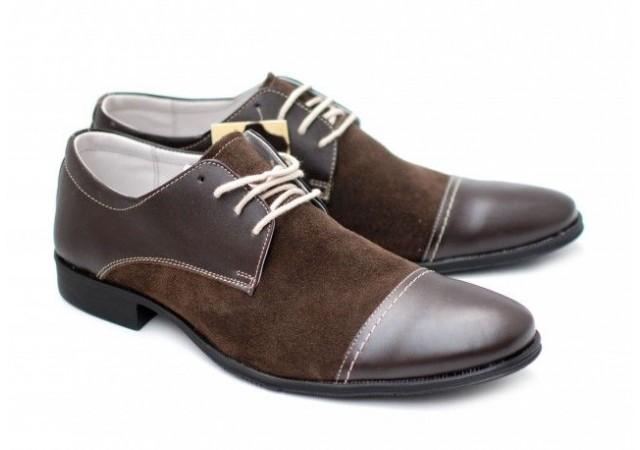 Pantofi maro barbati casual - eleganti din piele naturala 959M