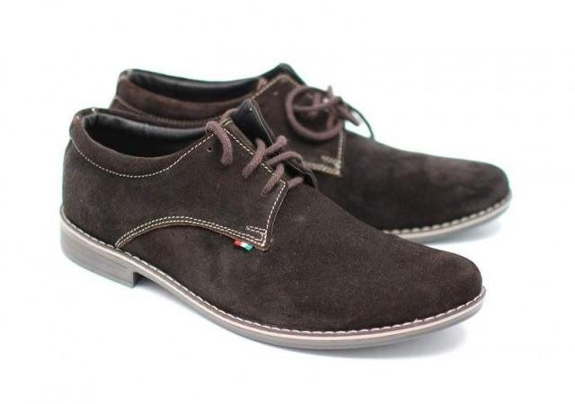 Pantofi barbati casual - eleganti din piele natural intoarsa VELMS
