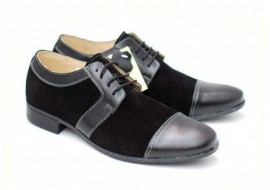 Pantofi negri barbati casual - eleganti din piele naturala - Ricardo
