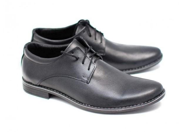 Pantofi negri barbati casual - eleganti din piele naturala EZELBOXNSIRET