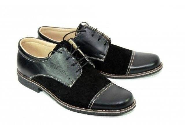 Pantofi negri barbati casual-eleganti din piele naturala - marimea 37