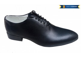 Pantofi negri barbati lux - eleganti din piele naturala - CARLO