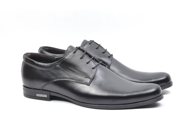 Pantofi barbati eleganti din piele naturala, AMON BLACK
