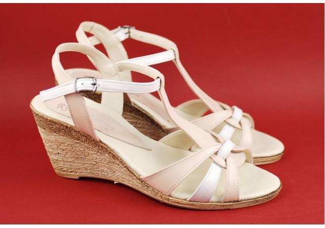 Sandale dama din piele naturala, cu platforma - cod S51BA2