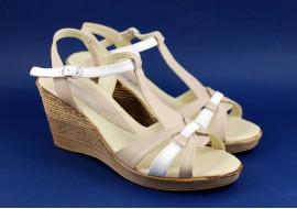 Lichidare marimea 39 Sandale dama din piele naturala, cu platforma - cod LS51BA