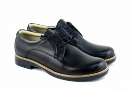 Oferta marimea 38 - Pantofi dama, casual, din piele naturala box - LP102NBOX