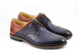 Pantofi barbati casual - eleganti, din piele naturala - SIR156BLM
