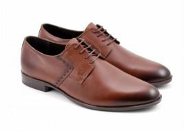 Pantofi barbati eleganti din piele naturala maro - Model ROSETYM