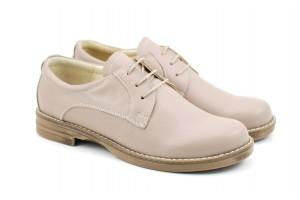 Pantofi dama casual din piele naturala, Made in Romania - P102BEJ