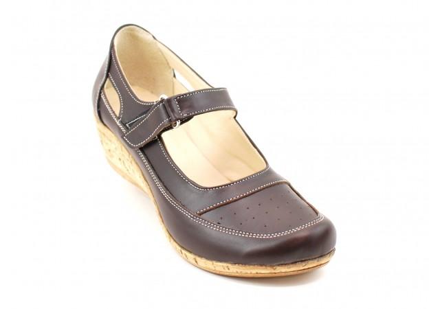 Pantofi dama cu platforma din piele naturala - Foarte comozi P9154MBOX2
