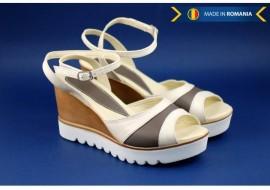Oferta marimea 37, 39 - Sandale dama din piele naturala cu platforma 7 cm - cod LS106AG