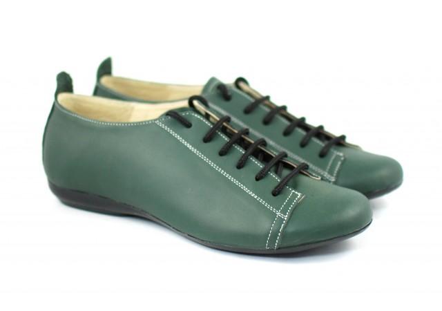 Pantofi dama piele naturala cu siret, casual - FOARTE COMOZI P09V