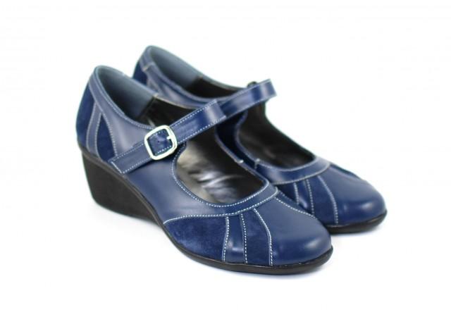 Pantofi dama casual din piele naturala foarte comozi - P13BLM