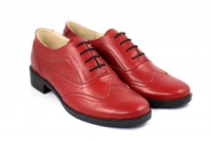 Pantofi dama, casual, din piele naturala -  P29ROSU