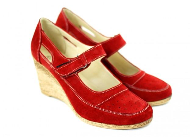 Pantofi dama din piele naturala, foarte comozi - P9154RVEL