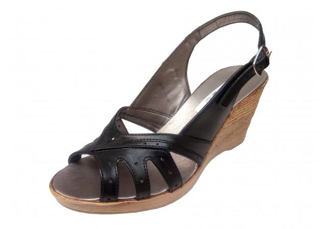 Sandale dama din piele naturala cu platforme - S88N