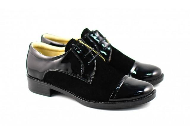 Pantofi dama casual din piele naturala - P10LACN