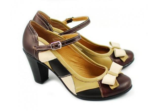 Pantofi dama casual, eleganti din piele naturala P13423VB