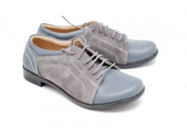 Pantofi dama casual din piele naturala, Made in Romania PH41GRIBOXVELUR
