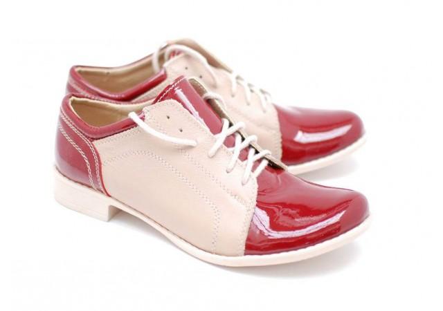 Pantofi dama casual din piele naturala-Made in Romania BOBROSUBEJ