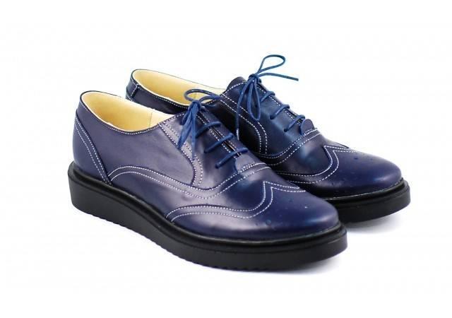 Pantofi dama casual din piele naturala bleumarin - Cod: P29BL