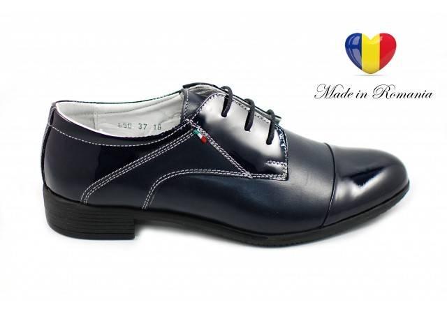 Pantofi dama piele naturala casual bleumarin - ROV650LACBLM