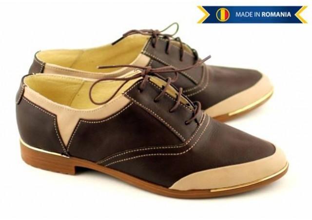 Pantofi dama piele naturala, casual - FOARTE COMOZI - Made in Romania P58