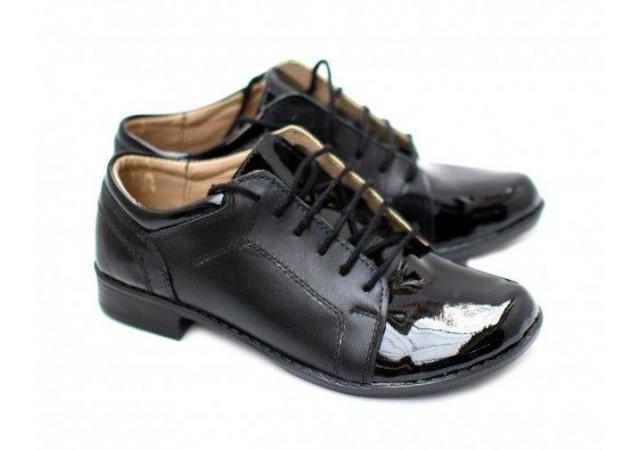 Pantofi dama piele naturala, casual Negri - Made in Romania DAMABOXLACN