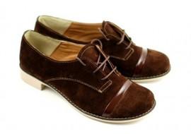 Oferta marimea 35 Pantofi dama casual din piele naturala (Intoarsa)  LMINAM