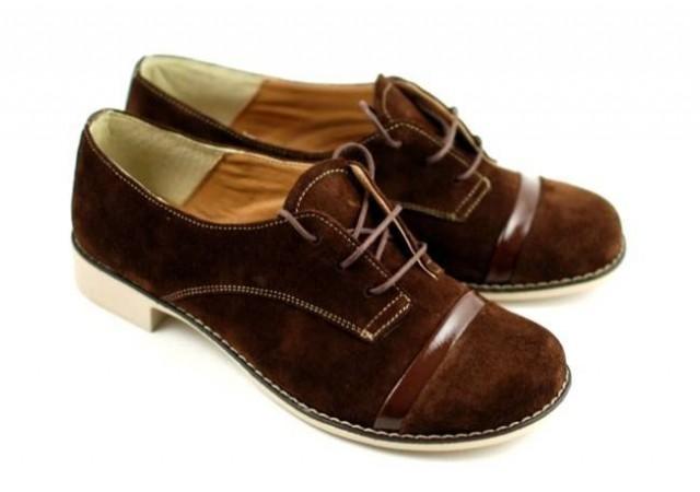 Pantofi dama casual din piele naturala (Intoarsa) - MINAM