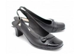 Pantofi dama decupati, din piele naturala - LPH38NLBOX