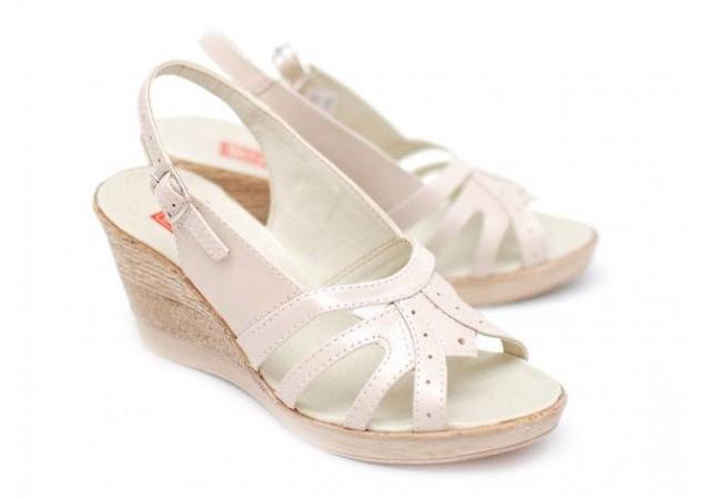 Sandale dama din piele naturala cu platforma - S98BEJ