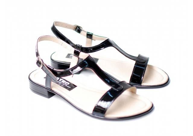 Lichidare marimea 39 Sandale dama din piele naturala lacuita - LS16NLAC