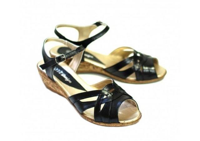 Sandale dama negre, din piele naturala  S3N