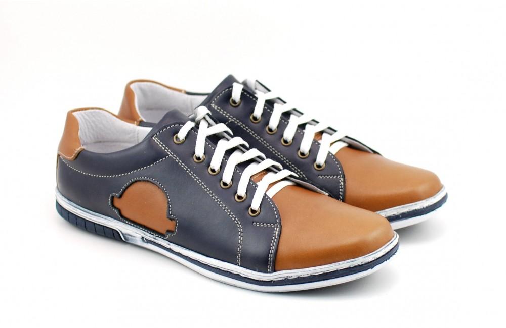 poze noi disponibilitate Marea Britanie vastă selecție Pantofi barbati sport - casual din piele naturala - Made in Romania