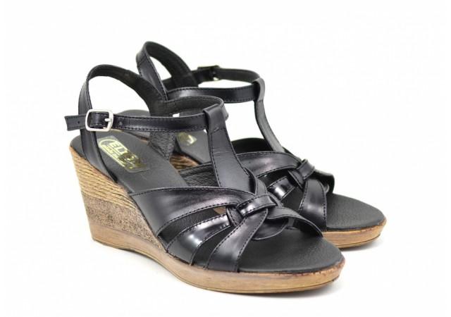 Sandale dama din piele naturala cu platforma - 15ELYN
