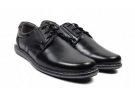Oferta marimea 40 Pantofi Casual Barbati din piele negri LVIC2211N