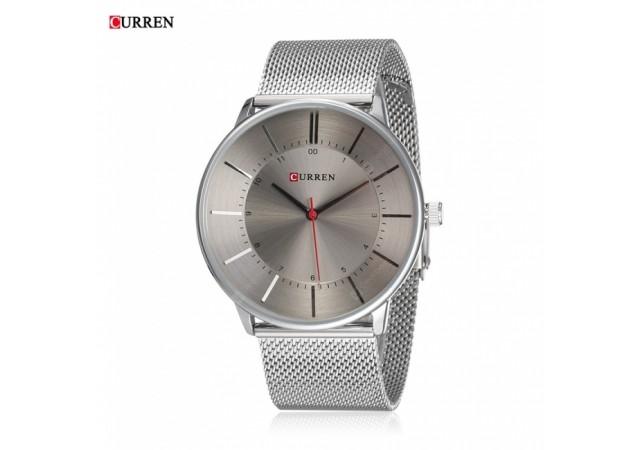 Ceas de mana barbati elegant, argintiu, Curren - M8303ASILVER
