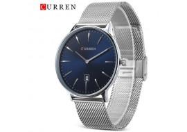 Ceas de mana barbati elegant Silver/Blue, Curren - M8302SILVERBL