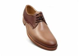 Pantofi barbati casual din piele naturala de culoare maro nisip SIR Never MB