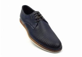 Pantofi barbati casual din piele naturala bleumarin - SIR213PBL