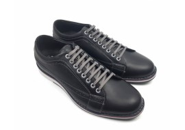 Pantofi barbati sport - casual negri din piele naturala cu perforatii 598N