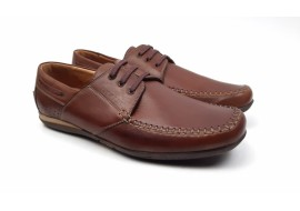 Pantofi maro barbati casual din piele naturala 550M
