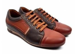 Pantofi barbati sport, casual maro din piele naturala 854M
