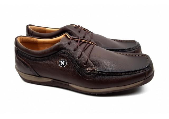 Pantofi barbati casual maro din piele naturala - Made in Romania 561M