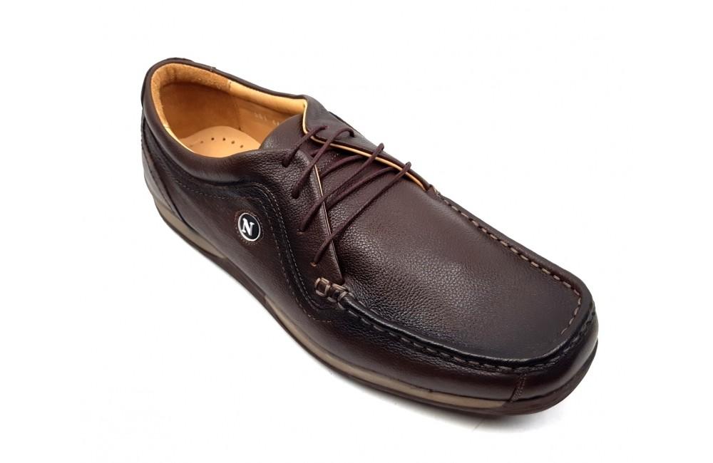 cumpara cel mai bine arătos detaliind Pantofi barbati casual maro din piele naturala - Made in Romania 561M