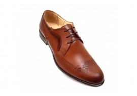 Pantofi barbati oxford,  eleganti din piele naturala - SIR020GMARO