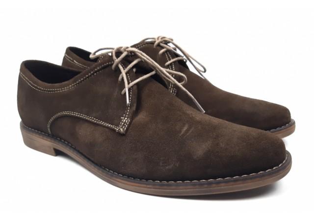 Pantofi barbati casual din piele naturala, culoare maro 336MVEL