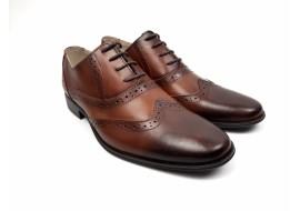 Pantofi barbati eleganti din piele naturala maro - 566MD