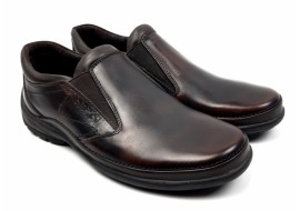 Pantofi casual barbati din piele naturala, elastic, maro milenium 599EML